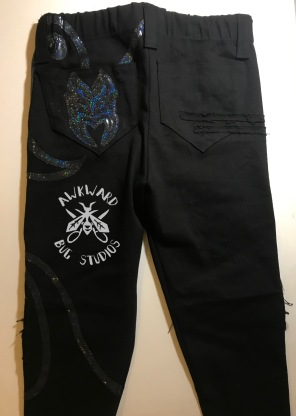 Sonico- denim grunge tights (back)